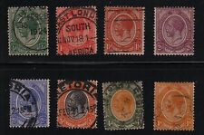 SOUTH AFRICA 8 King George V Stamps USED #2-7, #9, #11