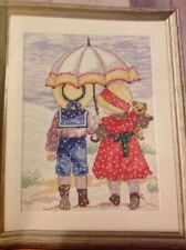 (X5) All Our Yesterdays Children In Snow Teddy Bear Christmas Cross Stitch Chart