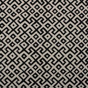 "DURALEE ALDORA BLACK GEOMETRIC HIGH END DESIGNER MULTIUSE FABRIC BY YARD 54""W"
