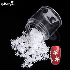 1g 6mm Nail Art Christmas Snowflakes Sequins Flakes 3D Sticker Decal Decoration