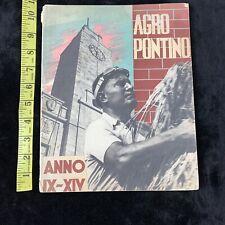 1930's Vintage Italy Travel Brochure Agro Pontino Printed 1936 Rare Mussolini