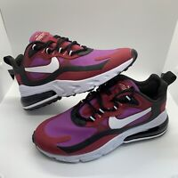 Nike Air Max 270 React | Red Purple Black White | CI3899 600 | Womens Sz 6 NWOB