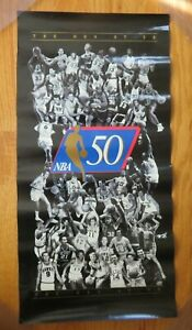 1996 THE NBA at 50 Poster MICHAEL JORDAN BILL RUSSELL LARRY BIRD BOB COUSY MAGIC