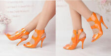Party Open Toe Wet look, Shiny Heels for Women
