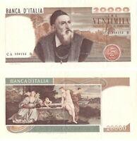 1975 Italia Banconota Lire 20000 Tiziano D.M. 21-02-1975 Rara 2 Buona Vedi Foto
