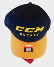 Ccm Hockey Senior/Adult Black/Gold Adjustable Cap/Hat Osfm