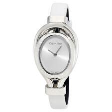 Calvin Klein Belt White Dial Ladies Watch K5H231K6