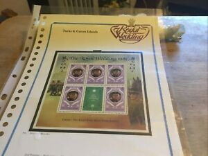 Turks & Caicos Islands Unmounted Mint Stamps Charles/di Royal Wedding