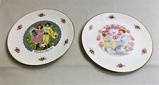"""2 Vintage Royal Doulton Valentines Day 1976 & 1977 Collector Plates, 8"""" dia."""
