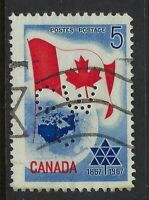 Perfin C46-CW/C: 1967 5c Confederation Centennial 453-1 Canadian Westinghouse Co