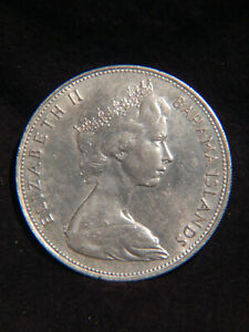 Bahamas 1966 $5 STERLING SILVER Coin 925/1000 Excellent & Big Stack Or Collect