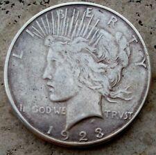 Silver Coin One Dollar 1923 S PEACE   ORIGINAL USA