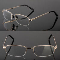 BIFOCAL READING CLEAR GLASSES MEN WOMEN'S QUALITY 1.25~4.00 METAL FRAME