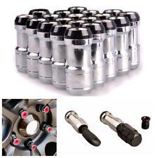 20Pcs M12X1.5 Racing Lug Wheel Anti-theft Nuts Screw Alloy Steel (L)45mmx(W)20mm