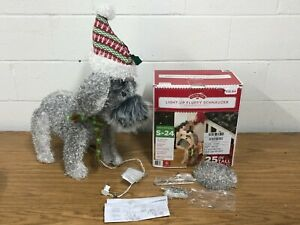 Holiday Time Christmas 25-Inch Light-Up Fluffy Schnauzer with 35 Lights
