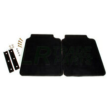 LAND ROVER DISCOVERY 1 REAR MUD FLAPS & BRACKETS, RUBBER MUD FLAP SET X2 RTC6821