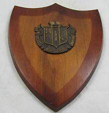 Rare Vintage Delta Zeta College Sorority Wood Wall Plaque Crest Coat Arms