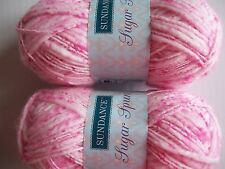Sundance Sugar Spun wool blend baby yarn, Bubble Gum, lot of 2 (114 yds ea)