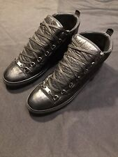 BALENCIAGA CELEB OWNED ARENAS SIZE 47 14 US BLACK SNEAKERS SHOES AUTHENTIC