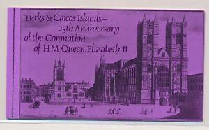 LN68723 Turks & Caicos 25th anniversary coronation good booklet MNH