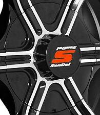 """1 New Gloss Black Sendel T05 Trailer Wheel Center Cap - 15"""" Wheel"""