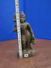 "8"" Antique Old Rare Hand Carved Stone Collectible Religious Shiva Sculpture Idol"
