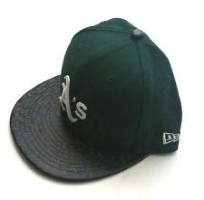 Oakland A s Era 59fifty MLB Black Tile Visor Green Fitted Hat Size 7 ... e982e9e84f47