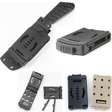EDC Cinturón Bucle de combate Clip de cinturón para Cuchillo K Vaina Funda con bloqueo y tornillo