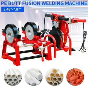 "2.48""-7.87"" Pipe Welder 63-200mm PE PPR PB PVDF HDPE Butt Fusion Welding Machine"