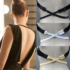 Low Back Backless Bra Strap Converter Fully Adjustable Extender Hook - White