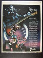 1978 Fender STARCASTER Electric Guitar color art vintage print Ad