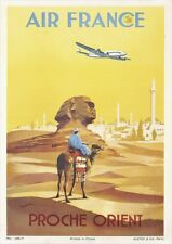 Air France   Proche Orient   Vintage Travel Poster   A1, A2, A3