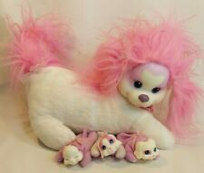 Puppy Surprise Just Play Mommy Dog Pink & White With 3 Baby Puppies