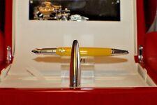 Montegrappa LE Italian Icon Italian Ferrari Car Yellow Fountain Pen 18KT M N