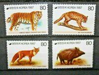 "FRANCOBOLLI COREA DEL SUD 1987 ""ANIMALI SELVATICI FAUNA"" SERIE NUOVA MNH** (C.7)"