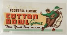 rare 1937 or 1938 COTTON BOWL COLLEGE FOOTBALL GAME WINDOW DECAL STICKER
