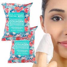 2pk Lenços Facial Limpeza Profunda 60 Panos de infundido com colágeno Removedor De Maquiagem