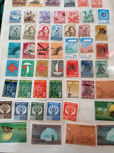 several stamps Indonesia several years, all mnh