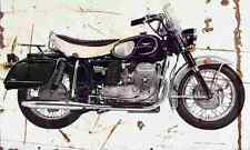 MotoGuzzi V850 California 1972 Aged Vintage SIGN A4 Retro