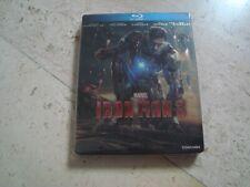 IRON MAN 3  Blu-Ray RARE oop SteelBook MARVEL Robert Downey jr. Guy Pearce