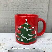 Vintage Waechtersbach Christmas Tree Red Ceramic Coffee Mug