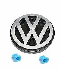 VW BADGE & CLIPS NEW FOR REAR of VW TRANSPORTER T25 and T4 1985-2004 701853601F