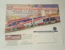 montreal canadiens express train 2007 promo sheet
