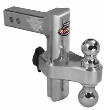 Trimax Razor Aluminum 8 Drop Adjustable Tow Hitch w/Dual Hitch Ball 8 Inch