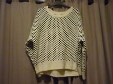 LADIES BLACK/WHITE CHUNKY KNIT JUMPER FROM H&M - SIZE LARGE - NEW WITH TAGS