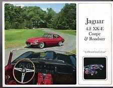 Jaguar XK-E 4.2 Series 1 Mid 1960s USA Market Foldout Sales Brochure E-Type