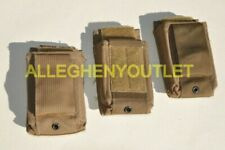 Set Of 3 Usmc Marine Corps Speed Reload Magazine Mag Pouch Coyote Brown Vgc
