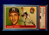 1955 TOPPS #31 WARREN SPAHN PSA GRADED *CY YOUNG* Buy 2 Graded Cards Save 10%