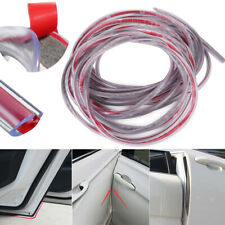 Clear 9.6ft Universal Car Door Edge Rubber Protector Moulding Trim Guard Strip
