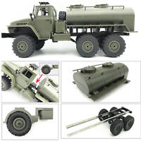 Oil Tanker Spare Tire Remodel Accessory Truck for 1/16 WPL B36 Military RC Car
